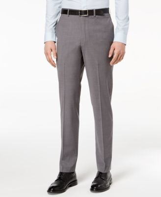 Men's Slim-Fit Stretch Neat Suit Pants