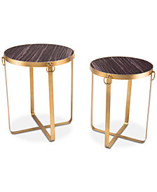 Onix End Table (Set Of 2), Quick Ship