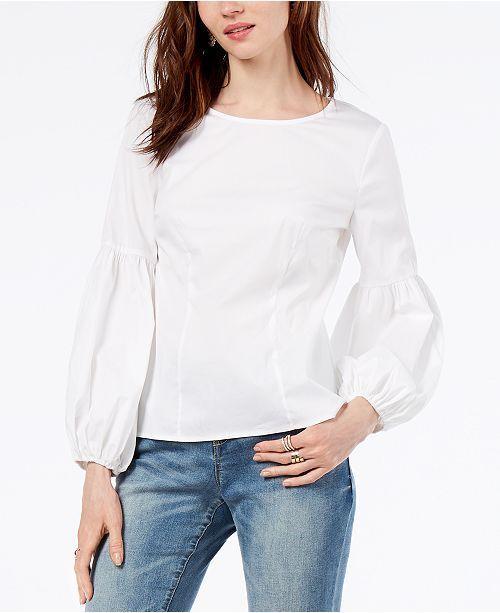 d1e9675c6d45a ... INC International Concepts I.N.C. Balloon-Sleeve Shirt