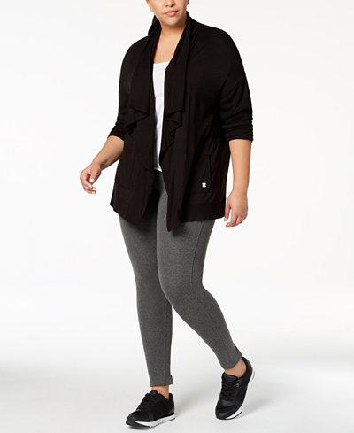 Calvin Klein Performance Plus Size Open-Front Cardigan