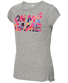 adidas Logo-Print T-Shirt, Little Girls