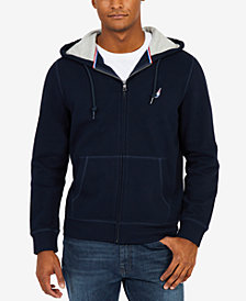 Nautica Men's J Class Embroidered-Logo Full-Zip Fleece Hoodie