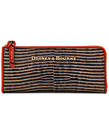 Dooney & Bourke Continental Embossed Leather Zip Clutch Wallet