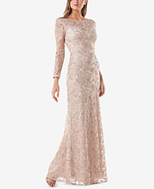 JS Collections Embroidered Soutache Gown