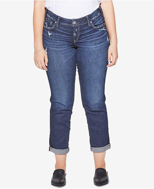 c20a5ef6 Plus Size Sam Boyfriend-Fit Jeans; Silver Jeans Co. Plus Size Sam Boyfriend-Fit  Jeans ...