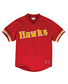Mitchell & Ness Men's Atlanta Hawks Wordmark Mesh V-Neck Jersey