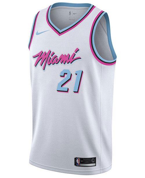 release date: cd908 eae80 adidas Men's Hassan Whiteside Miami Heat City Swingman ...