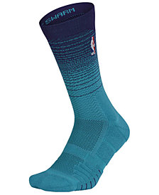 Nike Men's Charlotte Hornets Elite Quick Crew Socks