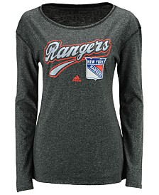 adidas Women's New York Rangers Pearlized Long Sleeve T-Shirt
