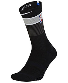 Nike Men's San Antonio Spurs Elite Quick Crew Socks