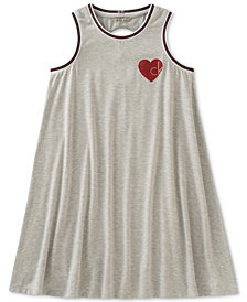 Calvin Klein Heart Logo Dress, Big Girls