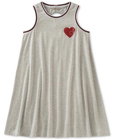 Calvin Klein Heart Logo Dress, Big Girls