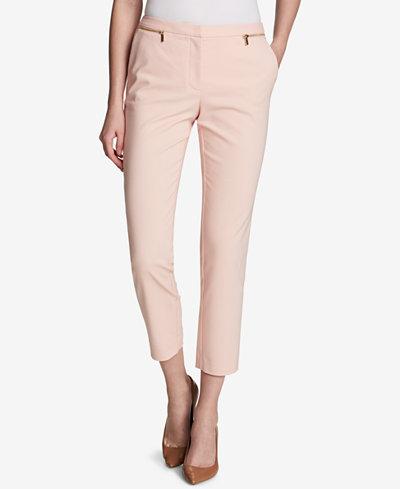 Calvin Klein Cropped Straight-Leg Pants