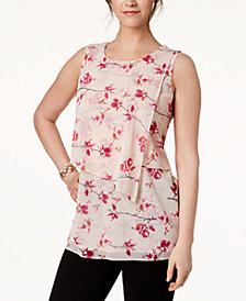 Alfani Sleeveless Tiered Mesh Top, Created for Macy's