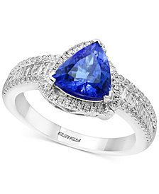 Tanzanite Royalé by EFFY® Tanzanite (1-1/2 ct. t.w.) & Diamond (1/2 ct. t.w.) Ring in 14k White Gold