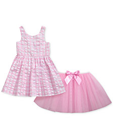 Sweet Heart Rose 2-Pc. Seersucker Dress & Mesh Skirt Set, Baby Girls