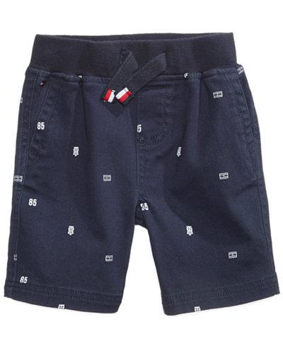 Tommy Hilfiger Schiffli Pull-On Shorts, Baby Boys