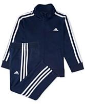 6a4cb0a7b459 Baby Boys 12-24 M adidas 2-Pc. Three-Stripe Track Suit