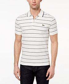 Lacoste Men's Heritage Stripe Waffle-Knit Polo
