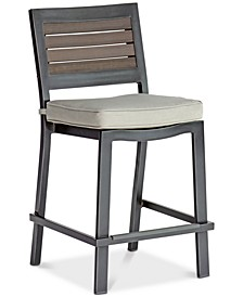 Marlough II  Aluminum Outdoor Bar Stool with Sunbrella® Cushion, Created for Macy's