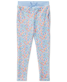 Ralph Lauren Floral-Print Terry Pants, Toddler Girls