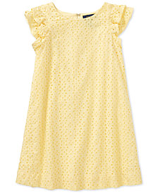 Ralph Lauren  Eyelet Cotton Cotton Batiste Dress, Big Girls