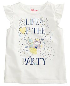Epic Threads Life Of The Party T-Shirt, Little Girls, Created for Macy's