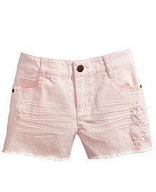 Epic Threads Crochet-Trim Shorts, Big Girls, Created for Macy's