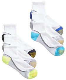 Gold Toe Women's 6-Pk. Sport Half-Cushion Quarter Socks