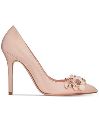 Kate Spade New York Embellished Metallic Pumps