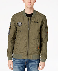 Superdry Men's Rookie Aviator Patch Full-Zip Bomber Jacket