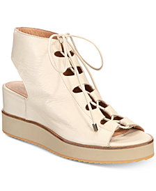 Andre Assous Tamsin Platform Lace-Up Wedge Sandals