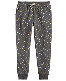 Epic Threads Star-Print Jogger Pants, Big Girls, Created for Macy's