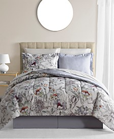 CLOSEOUT! Evelyn 8-Pc. Reversible Queen Comforter Set