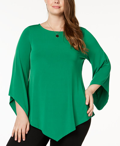 Alfani Plus Size Pointed-Hem Tunic, Created for Macy's