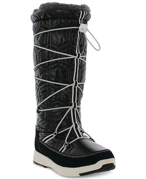 Khombu Women's Slalom V Lace-Up Cold-Weather Boots