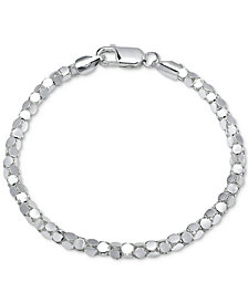 Giani Bernini Mirror Box Link Bracelet in Sterling Silver, Created for Macy's