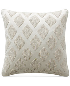 """Hotel Collection Gilded Geo 18"""" Square Decorative Pillow, Created for Macy's"""
