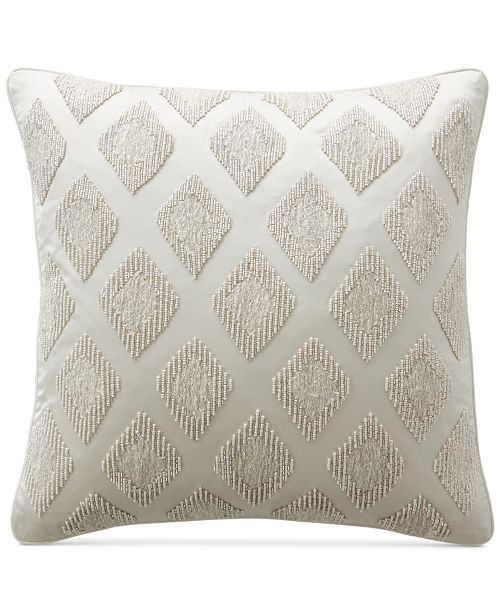 "Hotel Collection CLOSEOUT! Gilded Geo 18"" Square Decorative Pillow, Created for Macy's"