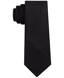 DKNY Men's Textured Angle Silk Slim Tie