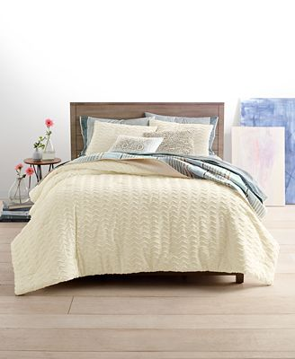 Martha Stewart Collection Chevron Chenille Bedding Collection