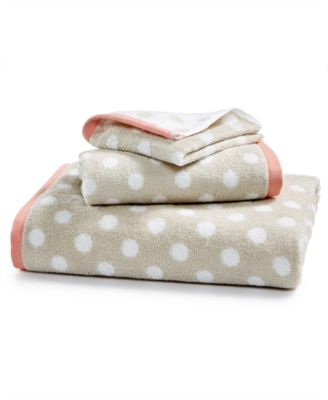 Cotton Dot Spa Fashion Wash Towel, Created for Macy's