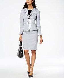 Le Suit Two-Button Skirt Suit, Regular & Petite