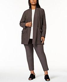 Eileen Fisher Plus Size Kimono, Shell & Ankle Pants