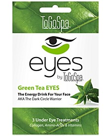 ToGoSpa Green Tea Eyes Collagen Gel Mask, from PUREBEAUTY Salon & Spa