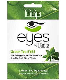 ToGoSpa Green Tea Eyes Collagen Gel Mask, from PUREBEAUTY Salon & Spa
