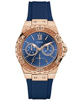 0babd684edb9 GUESS Women s Blue Silicone Strap Watch 39mm