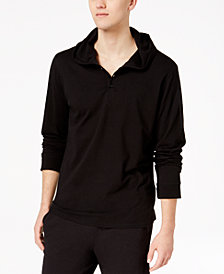 Bar III Men's Hooded Henley Pajama Top, Created for Macy's
