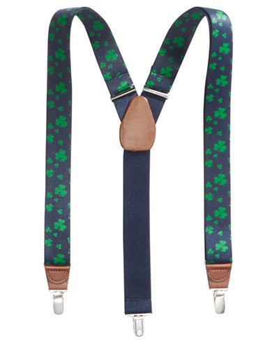 Club Room Men's Shamrock Suspenders