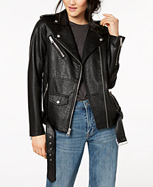 Levi's® Belted Faux-Leather Moto Jacket